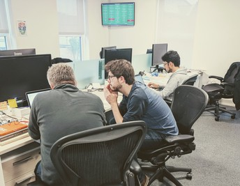 Photograph of developers working