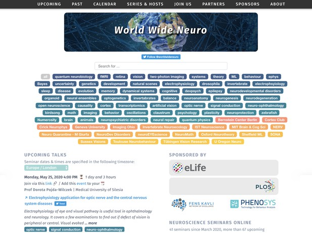 screenshot of world wide neuro