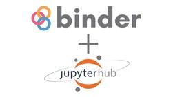 Binder and JupyterHub logos