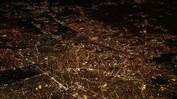 city map at night