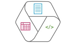 Icon linking document, data and code