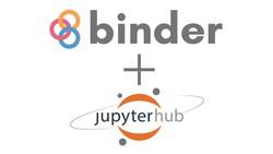 Binder and JupyterHub logos