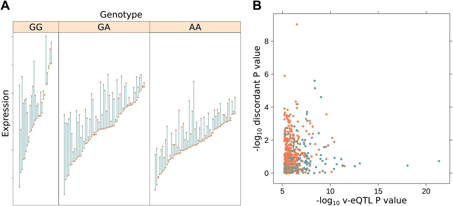 Genetic interactions affecting human gene expression