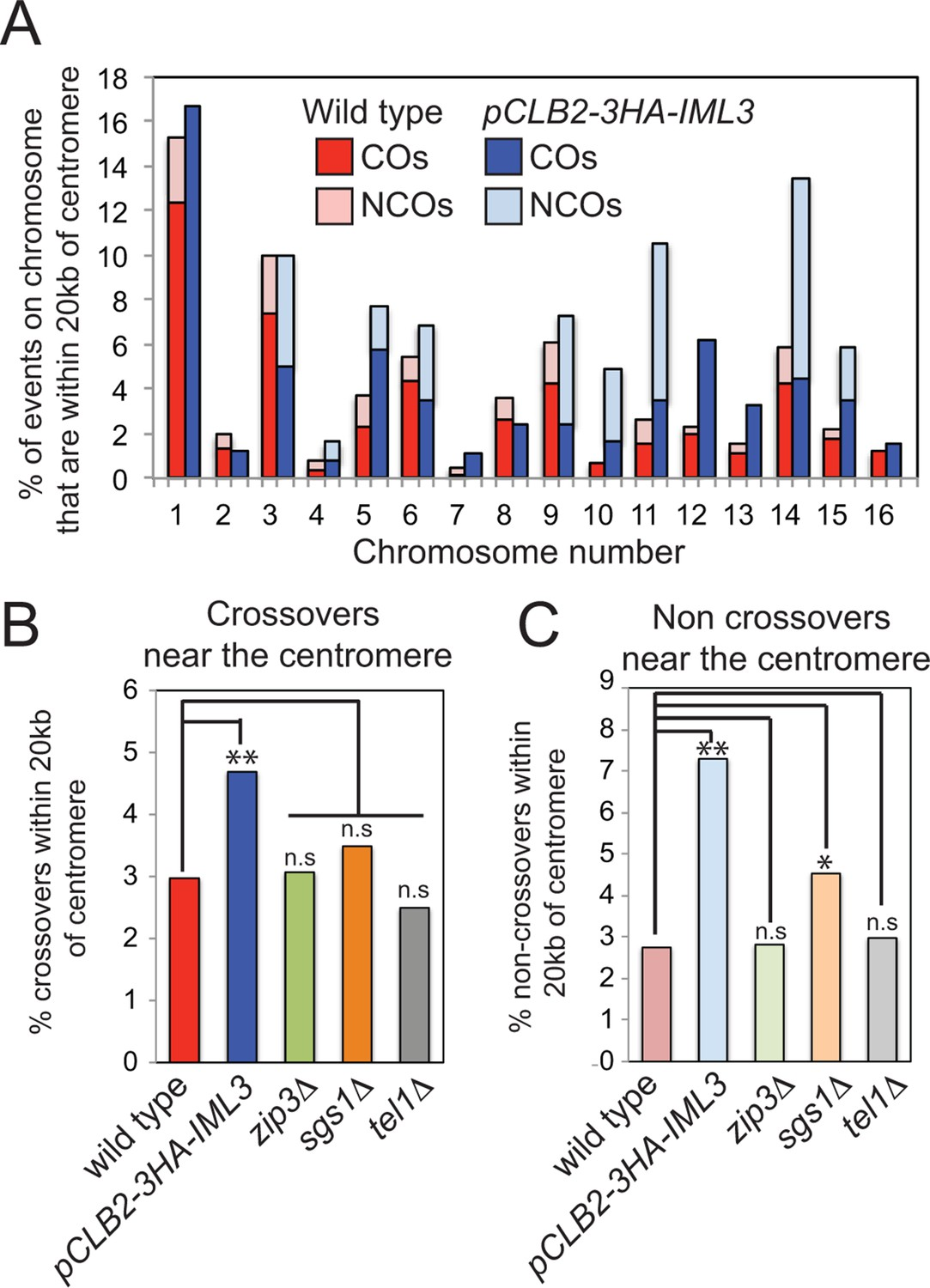 The Kinetochore Prevents Centromere Proximal Crossover Recombination World Of Hifi Crossovers Here S Troublesome Schematic Depletion Iml3 In Meiosis Increases Frequency Events Within 20 Kb