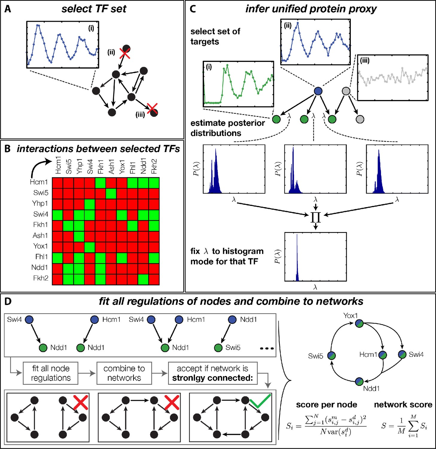 Inference of gene regulation functions from dynamic