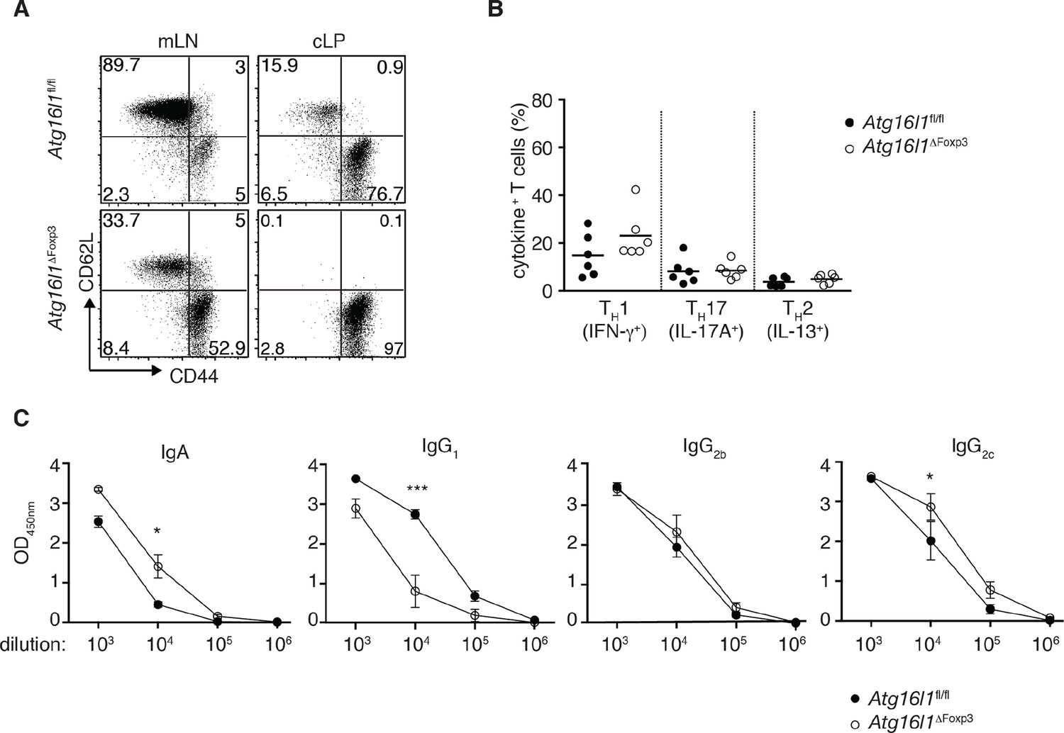 The autophagy gene Atg16l1 differentially regulates Treg and