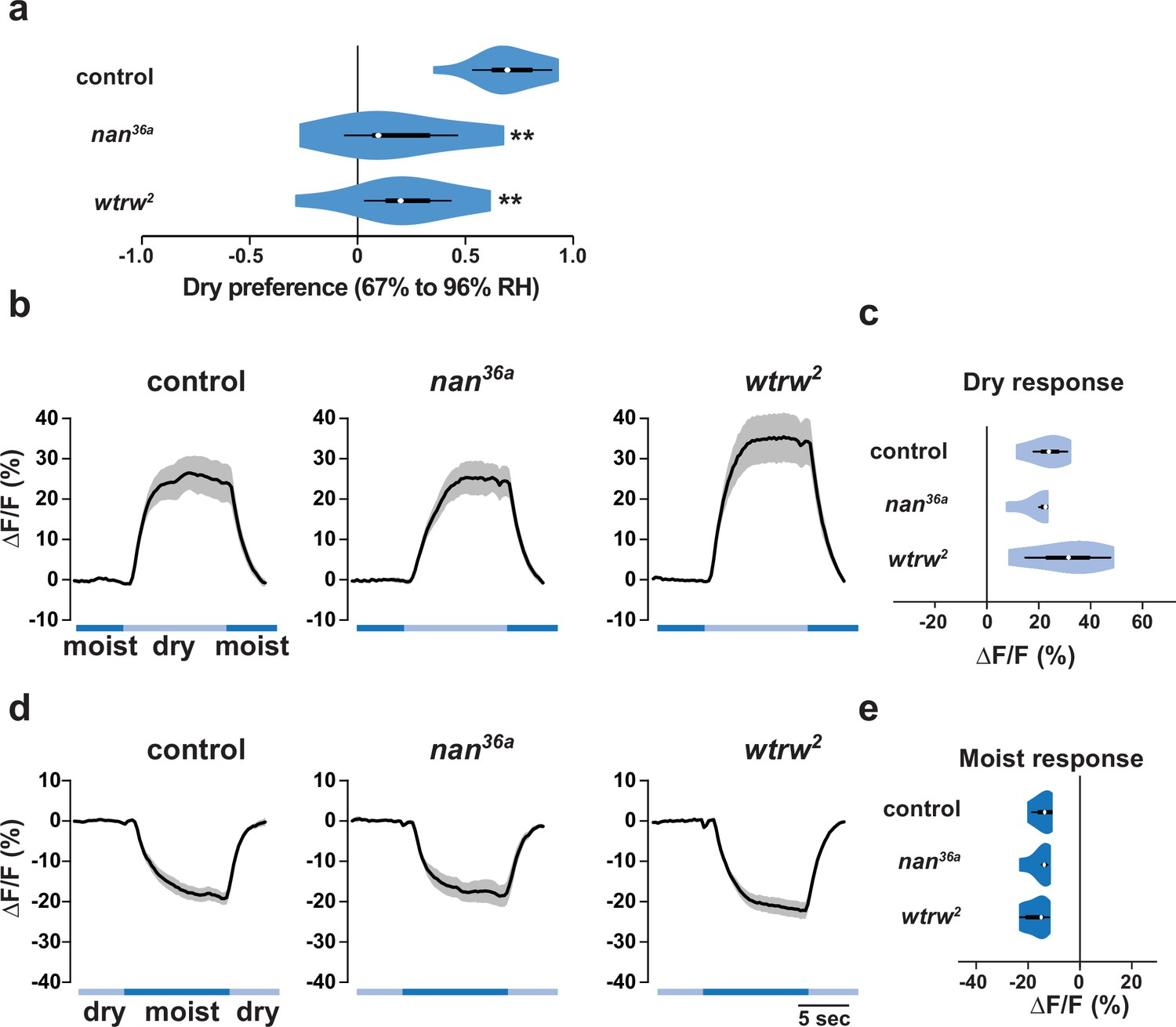 Distinct Combinations Of Variant Ionotropic Glutamate Receptors Besides Dish Work Rf Modulator On Wiring Diagram The Trp Channels Nanchung And Water Witch Do Not Mediate Ir Dependent Dry Sensation