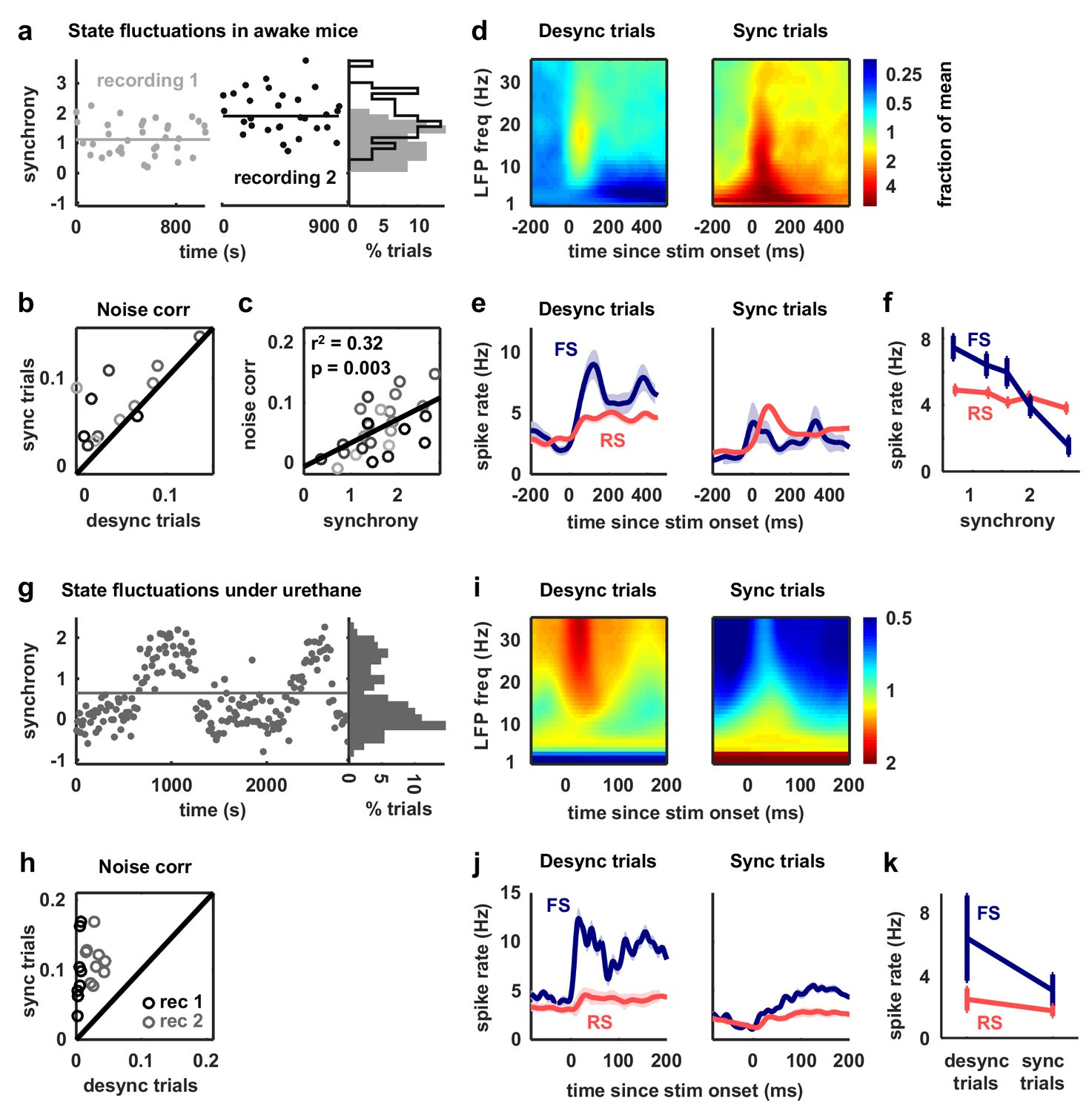 Inhibitory control of correlated intrinsic variability in cortical