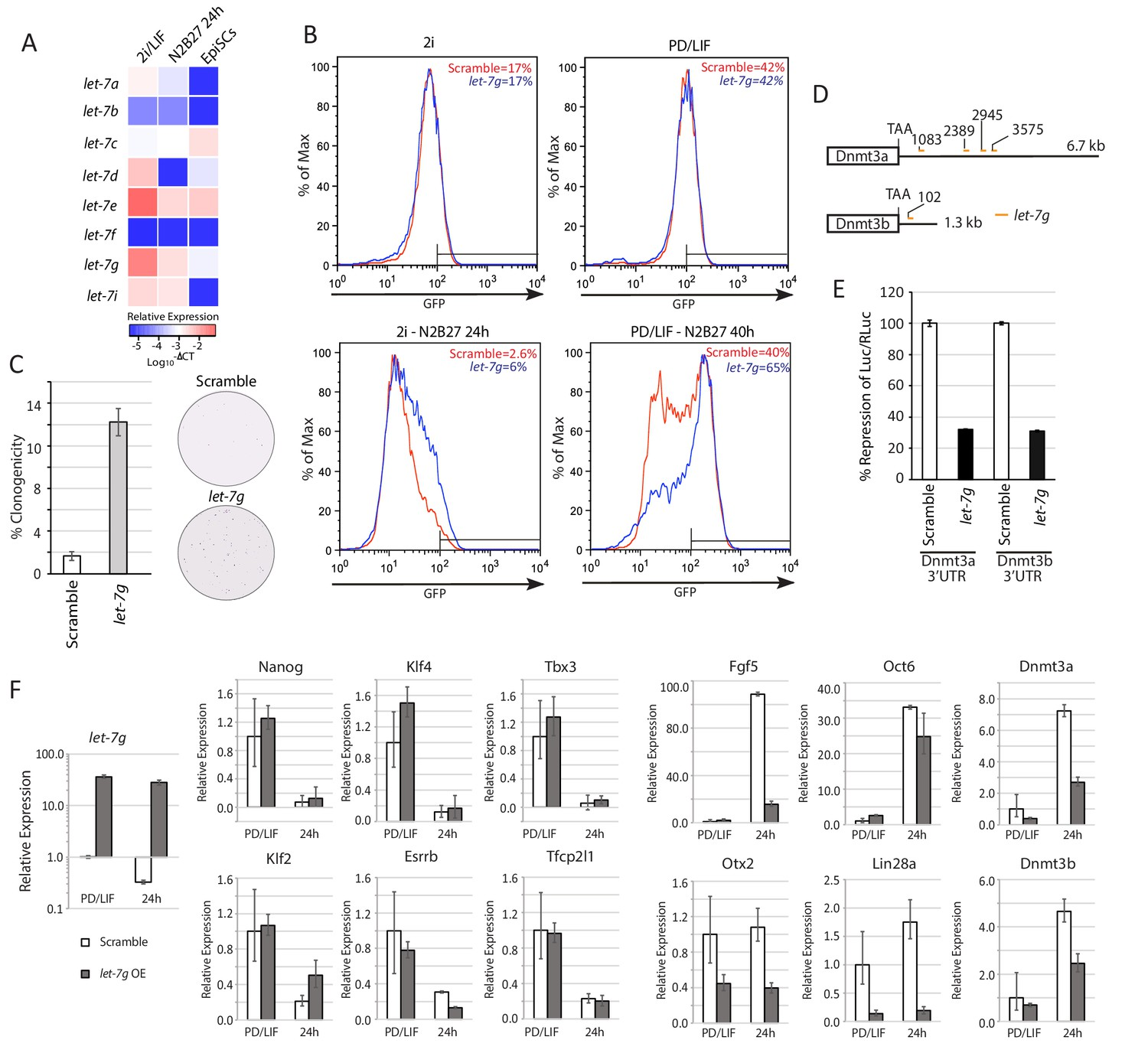 A Lncrna Fine Tunes The Dynamics Of Cell State Transition Spector Wiring Diagram Lin28a Function Is Mediated Via Members Let 7 Mirnas