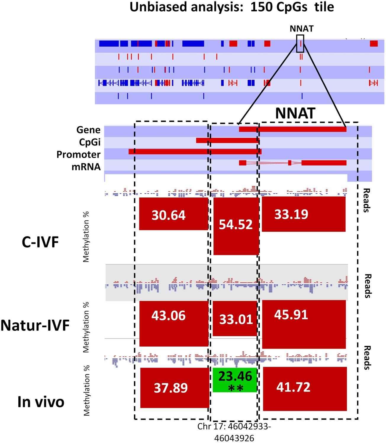 DNA methylation and gene expression changes derived from assisted