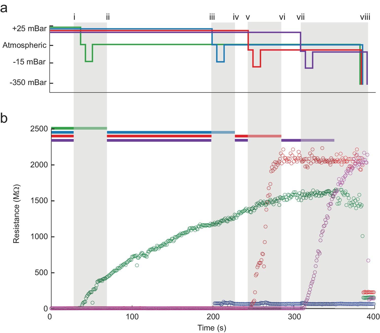 Multi-neuron intracellular recording in vivo via interacting