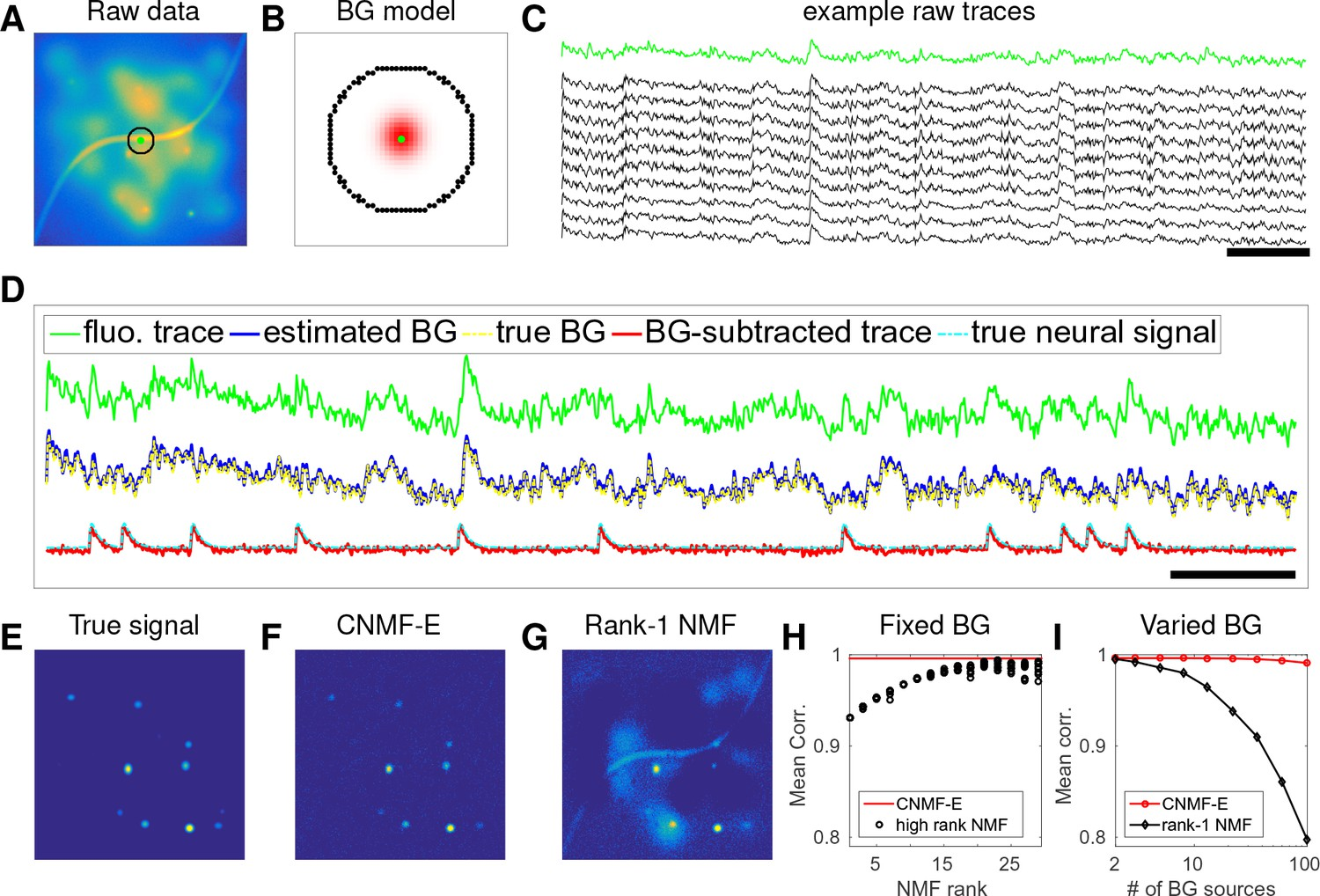 Efficient and accurate extraction of in vivo calcium signals