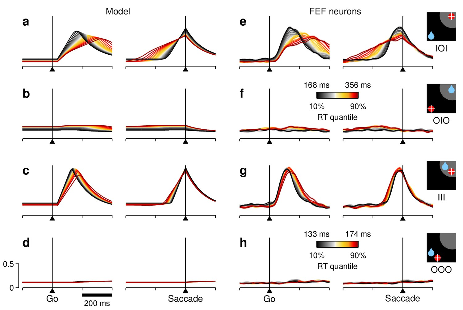Motor Selection Dynamics In Fef Explain The Reaction Time Variance Aaa C Wire Color Diagram Typical Single Line Unit Rt Sensitivity Of Average Population Activity
