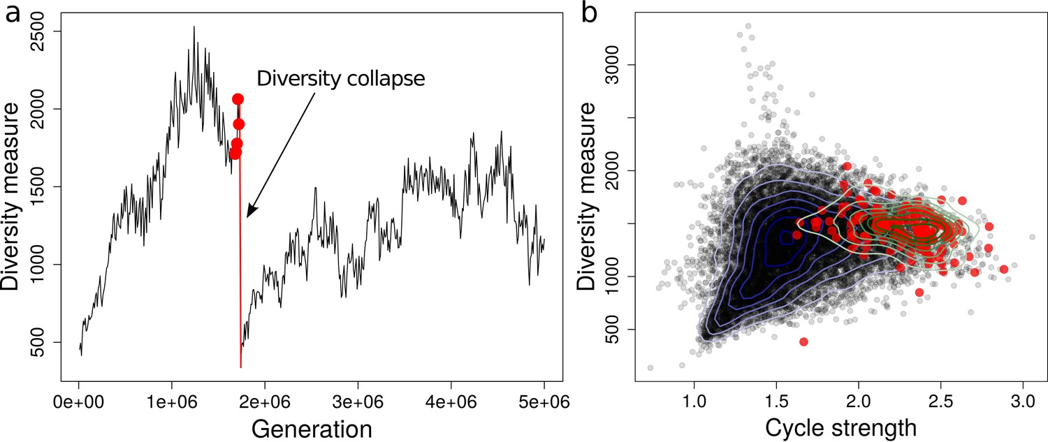 Trade-off shapes diversity in eco-evolutionary dynamics | eLife