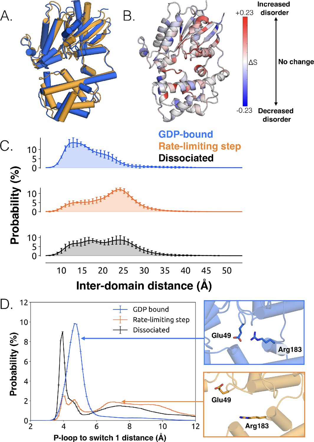 Simulation of spontaneous G protein activation reveals a new