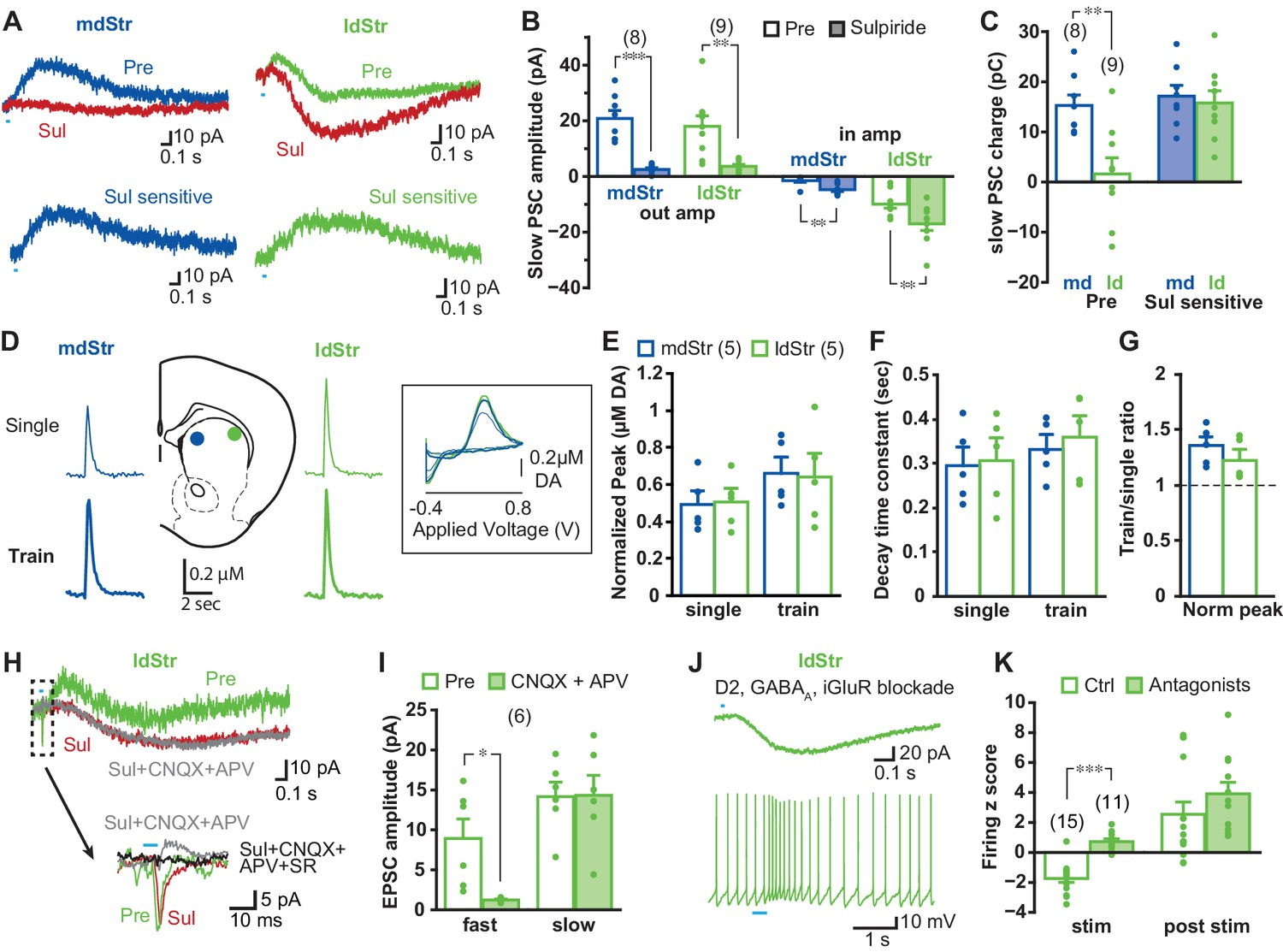 Dopamine neuron glutamate cotransmission evokes a dela ... on